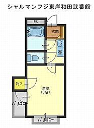 シャルマンフジ東岸和田弐番館[2階]の間取り