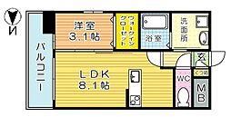 U's Residence 木町 (ユーズレジデンス木町)[902号室]の間取り
