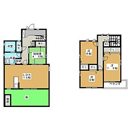 [一戸建] 愛知県一宮市音羽3丁目 の賃貸【愛知県 / 一宮市】の間取り