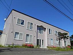 北海道札幌市清田区北野五条4の賃貸アパートの外観
