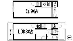 [テラスハウス] 兵庫県宝塚市山本台3丁目 の賃貸【/】の間取り