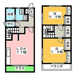 浅井ハイツII[1階]の間取り