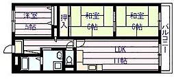 サニープレイスアオヤマ[1階]の間取り
