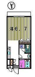 第7クレスト吉原[1階]の間取り