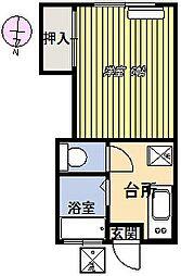 第1元町コーポ[203号室]の間取り