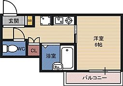 楠青山ビル別館 3階1Kの間取り