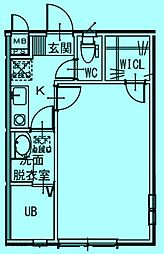 メゾン・ベール[1階]の間取り