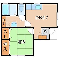Kハウス和田[1階]の間取り
