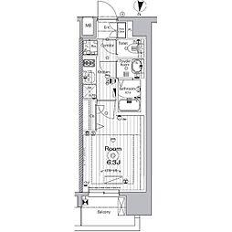 名古屋市営名城線 矢場町駅 徒歩9分の賃貸マンション 12階1Kの間取り