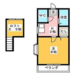 サリィ1[1階]の間取り