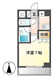 STUDIO SHIROGANE[6階]の間取り
