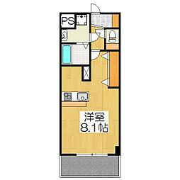 プレサンス京都五条大橋レジェンド[505号室]の間取り
