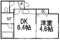 北海道札幌市南区澄川二条4の賃貸アパートの間取り