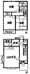 [タウンハウス] 徳島県小松島市小松島町字北浜 の賃貸【/】の間取り
