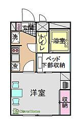 元橋本II[201号室]の間取り