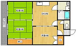 SKサンコー諏訪野[502号室号室]の間取り