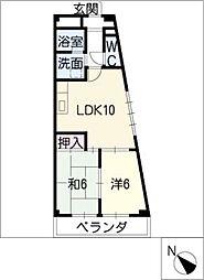 太平コーポラスII[3階]の間取り