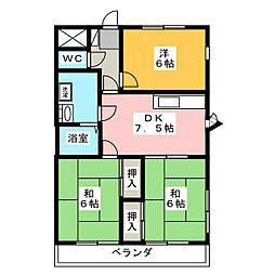 伊勢崎第2コートハウス[5階]の間取り
