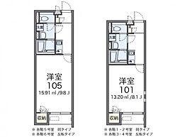 サニーハイツ2[1階]の間取り