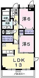 リシアンサス ポピー[3階]の間取り