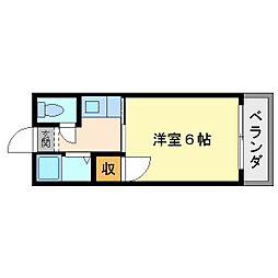大阪府大阪市平野区平野本町2丁目の賃貸アパートの間取り