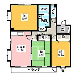 タウンハウス郷D棟[1階]の間取り