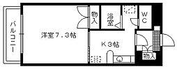 レ・コパン[203号室]の間取り