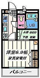 埼玉県川口市元郷5丁目の賃貸マンションの間取り
