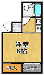 千島ビル[4階]の間取り