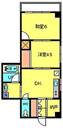 スワームマンション3[4階]の間取り
