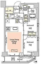 東京メトロ半蔵門線 半蔵門駅 徒歩6分の賃貸マンション 3階2LDKの間取り