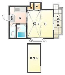 エクセル小林[4階]の間取り
