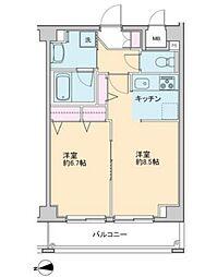 プロッシモ新宿[403号室号室]の間取り