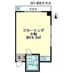 アプリーレ[1-B号室]の間取り