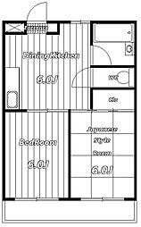 マウンテン宮[1階]の間取り