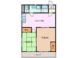 コーポサトー[2階]の間取り