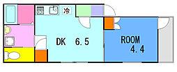 リーヴェルポート横浜南Alba[2階]の間取り