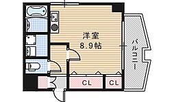 コスタ河堀口[304号室]の間取り