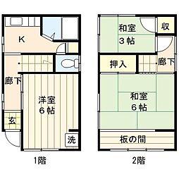 [一戸建] 東京都荒川区荒川3丁目 の賃貸【/】の間取り