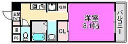 シャローム堺[5階]の間取り