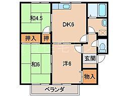 セジュールアキバ[1階]の間取り