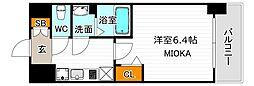 ララプレイス天王寺ルフレ 8階1Kの間取り
