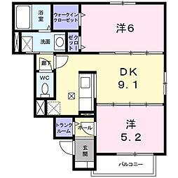 北海道札幌市手稲区富丘三条7丁目の賃貸アパートの間取り