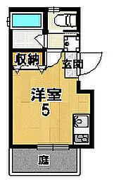 LOFTY伏見稲荷駅前 1階1Kの間取り