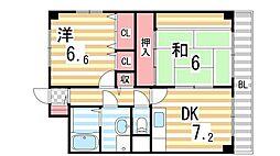 WESTヒルズ新鴻池[4階]の間取り
