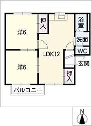 プレステージ神戸 E棟[1階]の間取り