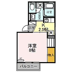 ロイヤルファミール B[2階]の間取り