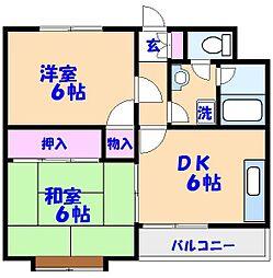コーラルマンション[302号室]の間取り