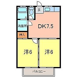 安井マンションIII[2階]の間取り