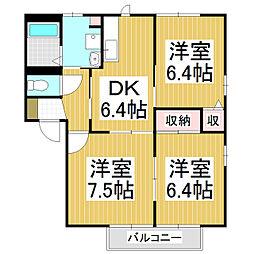 コーポトロモンA棟[2階]の間取り